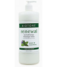 Biotone Renewal Aromatherapy Massage & Spa Lotion - 32oz Refillable Pump Bottle