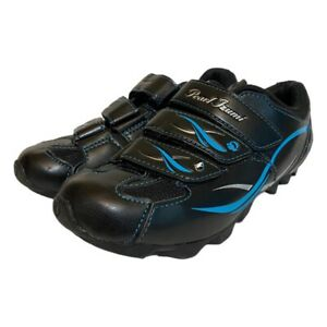 Pearl Izumi Womens All Road II Cycling Shoes Black Blue 2 Bolt Strap 37 EU  6 US