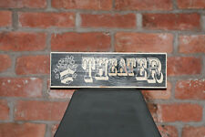 Theatre Vintage Shabby Chic Wooden Sign Old Look Camper Retro Films Cinema