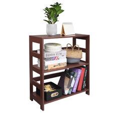 Us 3 Tier Vintage Bookcase Storage Book Shelf Wood Storage Organizer Corner Rack