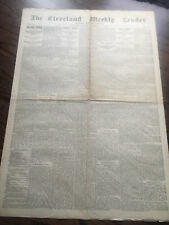 Geronimo surrenders Apache Indian War Front Page report Rare Rag 1886 Newspaper
