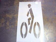 "48"" Federal Man On Bike Parking Lot Stencil 48"" Man on Bike Stencil"