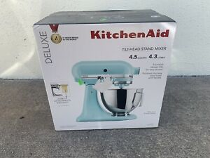 KitchenAid Deluxe 4.5 Quarts Tilt-Head Stand Mixer KSM97MI; Mineral Water Blue