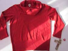 NWT JM Collection Red Tunic Cowl Neck Long Sleeve Sweater Sz XL Org $54.50