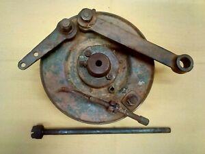 harley davidson wla,flathead 45ci wheel axle,hub brake plate,shackle,shoes,used