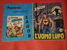 ZAGOR ZENITH- ORIGINALE- N°100 b -LIRE 200- (ZAGOR gigante N°49)- DEL 1969- raro