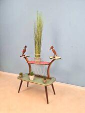 1950s German Plant Stand, Colorful Vintage Mid-Century Minimalist Indoor Plant S
