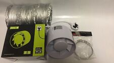 6 Inch 150mm Inline Extractor Intake Grow Room Fan Kit 5m Ducting & 2 Duct Clips