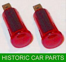2 Auto Car Dashboard Dash Panel RED Warning lights 12 Volt