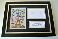 Sir Peter Blake Signed A4 FRAMED photo Autograph display Art Artist Music & COA