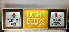 1971 Anheuser Bush Light Beer Department, Michelob & Natural light beer Sign