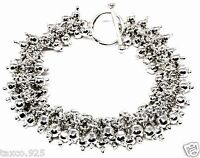 TAXCO MEXICAN 925 STERLING SILVER DECO BEADED BEAD BRACELET MEXICO
