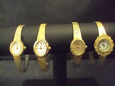 Lot 4 ladies Sarah Coventry watches goldtone untested need batteries