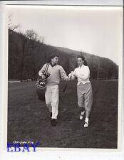 Maureen O'Hara Pat Wayne play golf VINTAGE Photo Long Gray Line  candid on set