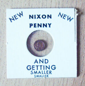 NIXON Penny And Getting Smaller Novelty Coin, vintage
