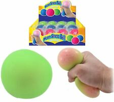 7cm Slow Rising Squishy Ball Neon Stress Sqeeze Kids Party Bag Filler Toy Favour