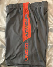 Under Armour Shorts Gray And Orange Size Large