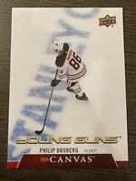 PHILIP BROBERG 2020-21 CANVAS UPPER DECK YOUNG GUNS SERIES 1 CARD # C95 OILERS