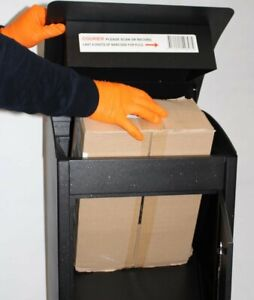 Parcel Delivery Box Drop-In Large Lockable Outdoor Weatherproof Letters Courier