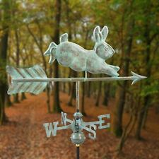 "Antique Rabbit Weathervane Roof Mount Vintage Garden 21"" Direction Weather Vane"