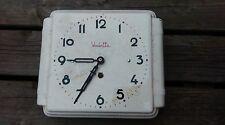 ancienne pendule vedette 1950  faience,vintage,industriel,réveil,garage