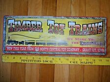 Tin Signs Timber Tot Toy Train Trains Lot Of 6 Weathered Distressed Look