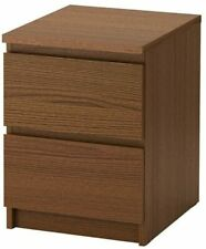 Ikea Malm 2-Drawer Chest Brown Stained Ask Veneer 403.152.82