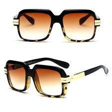 Oversized Square Aviator Gold Metal Bar Men Designer Legends Fashion Sunglasses