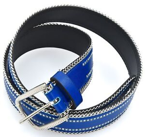 BERGÉ WOMAN BELT GENUINE LEATHER + STRASS BERGE MADE IN ITALY CODE 8314/438