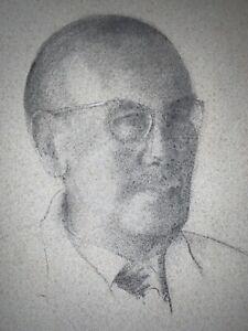 C.1960's~KATHLEEN LATHBURY, (1900-1993)~PORTRAIT OF T.H.BUCKINGHAM, ESQ~CHARCOAL