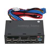 "5.25""PC Media Dashboard Front Panel USB3.0 Hub USB3.0/2.0 Internal Card Reader"