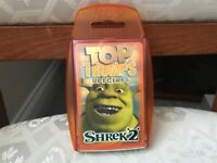 TOP TRUMPS SHREK 2 SPECIALS COMPLETE WITH HEADER CARD