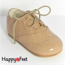 88926f525df3 BABY BOYS SEVVA SIZE 6 BROGUE PATENT SPANISH STYLE LACE -UP SHOE