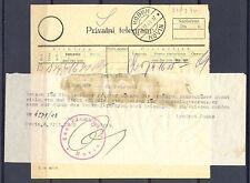 GERMANY OCCUPATION YUGOSLAVIA WW II TELEGRAM  1943 -  KUBIN  -