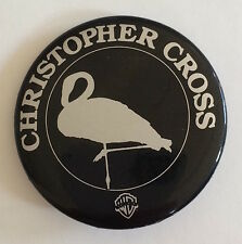 RARE Vintage 1979  Christopher Cross promo pin Warner Bros pinback button badge