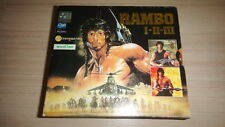RAMBO TRILOGY 1+2+3 Box Set Sylvester Stallone Movie Thailand Video CD Rare!