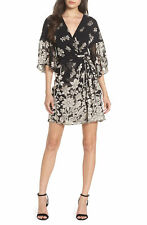 French Connection | Belted Faux-Wrap Dress | Black | 12