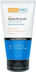 Kaolin Clay Detox Facial Acne Free With Charcoal Kaolin Clay Vitamin E Zinc 5oz