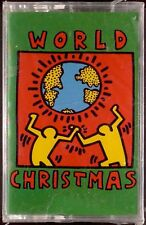 VARIOUS - WORLD CHRISTMAS LP CASSETTE KEITH HARING SEALED OOP