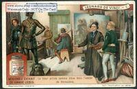 Leonardo De Vinci And Teacher Verrocchio 1920s Trade Ad Card