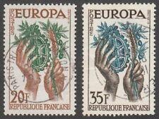 *1p SALE* France, 1957 Europa CEPT. SG 1347-8 Fine Used