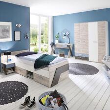 Jugendzimmer Nona Kinderzimmer 3-teilig mit Jugendbett 90x200 in Sandeiche
