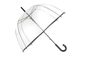 Parapluie transparent simple Finition noir - Smati