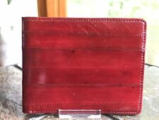 VTG Genuine Eel Skin Classic Bi-fold Mens Wallet Credit Business Card Holder NEW