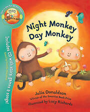 Night Monkey Day Monkey (Book & CD)-ExLibrary