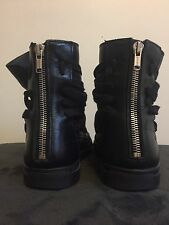 Kris Van Assche High Top Multi Lace Sneaker Black KRISVANASSCHE Size 43