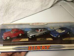 Dinky DY-902 Classic Sports Cars Series 1 Porsche 356A -Mercedes 350SL -Ferrari