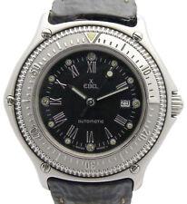 DESCUBRIMIENTO de EBEL acero automático reloj de la década de 1990 con FALTSCHLIEßE