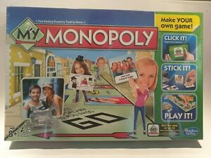 My Monopoly Game- Personalise And Make Your Own Game By Hasbro New In Box Sealed