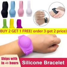 1/2PCS Sillicone Soap Bracelet Wristband Hand Dispenser Band Squeeze Bottle Qiu